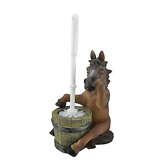 Seattle Pew Nose Holding Horse Helper Toilet Brush and Holder Set