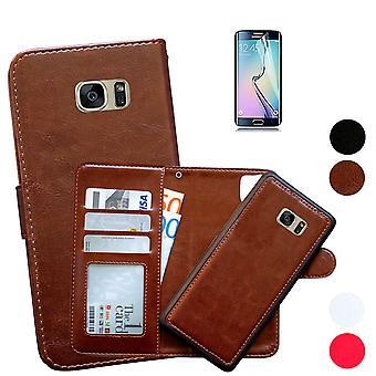 Samsung Galaxy S7 - Custodia in pelle / Guscio magnetico + Protezione dello schermo