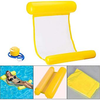 Summer Inflatable Floating Bed Floats On Water, Safe, Comfortable And Durable (yellow)