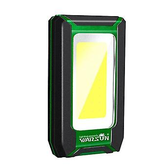 LED Work Light Portable USB Rechargeable Power Bank Magnetic|Portable Spotlights(Green)