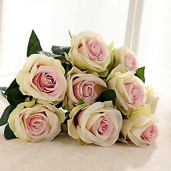 وهمية زهرة الزفاف عقد 18 عناقيد من الورود الكبيرة