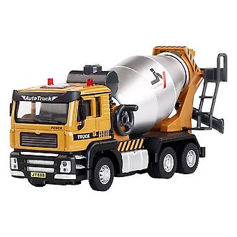 Mixer Truck Collection Model Toy Collection Model Car Sound And Light Pull Back Engineering Vehicle