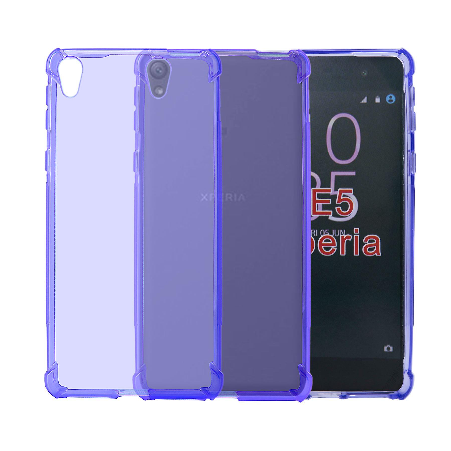 32nd Tough Gel case + stylus for Sony Xperia E5 - Purple