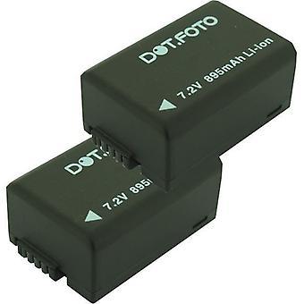 2 x Dot.Foto Leica BP-DC9, BP-DC9-E Replacement Battery - 7.2v / 895mAh - Leica V-LUX 2, V-LUX 3