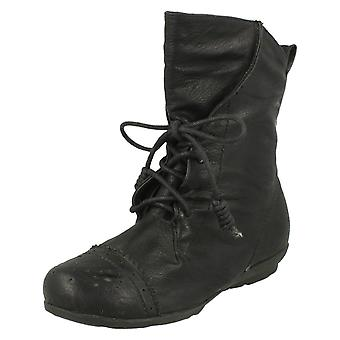 Girls Cutie Casual Lace Up Ankle Boots