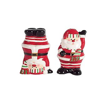 Candy Claus Santa Salt and Pepper Shakers Set Boston Warehouse