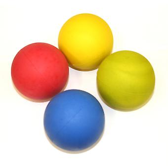 Hyfive Bright Dog Fetching Balls from Floating Bouncing Rubber for Training Mixed Colours Pack of 4