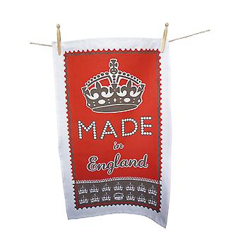 Red Made in England Tea Towel