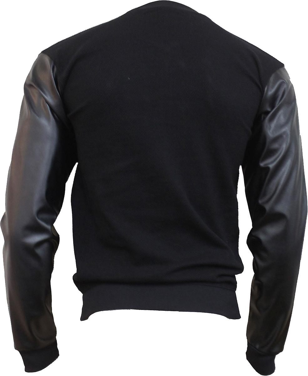 Spiral Direct Gothic URBAN FASHION - Bomber Jacket with PU Leather Sleeves|Fashion