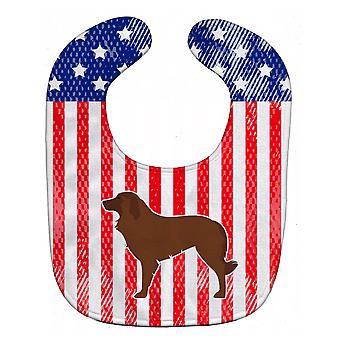 Carolines trésors BB3331BIB USA patriotique Berger portugais chien Baby Bib