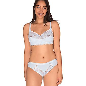 Sans Complexe 744438 Women's Coton d'Arum White Lace Non-Padded Non-Wired Full Cup Bra