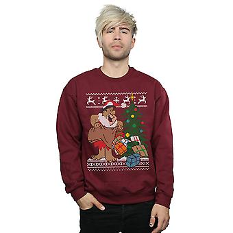 The Flintstones Men's Christmas Fair Isle Sweatshirt