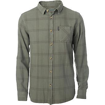 Rip Curl check shirt lange mouw shirt in stoffige Olive