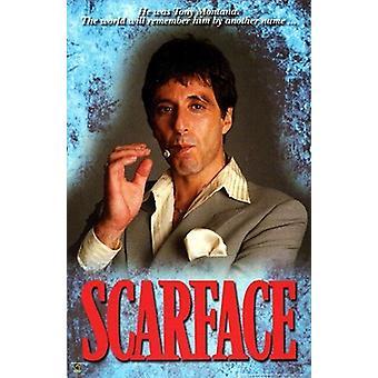 Scarface Tony Montana plakatutskrift (24 x 36)