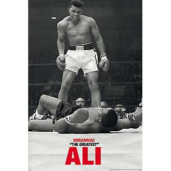 Muhammad Ali - Liston - First Round Poster Poster Print