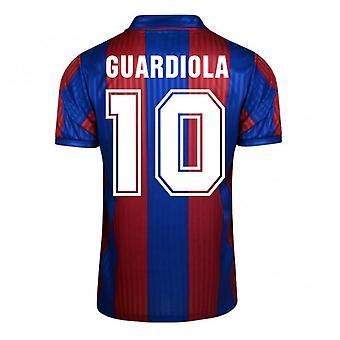 Score Draw Barcelona 1992 Home Shirt (Guardiola 10)