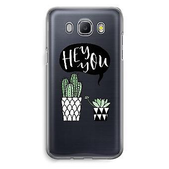 Samsung Galaxy J5 (2016) Transparent Case (Soft) - Hey you cactus