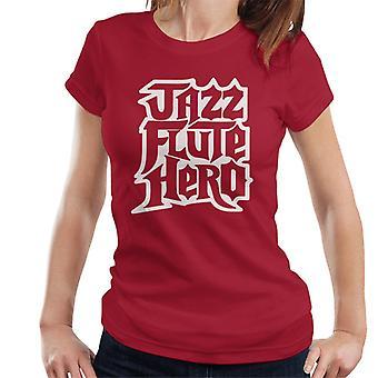 Uutisankkuri Jazz huilu Hero Guitar Hero naisten t-paita