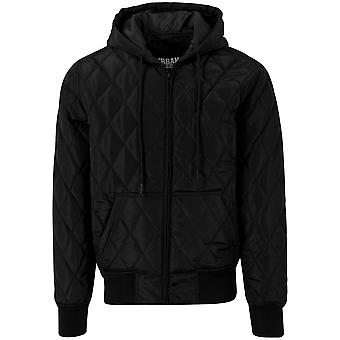 Urban classics hooded big diamond quilt jacket