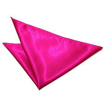 Hot Pink almindelig Satin Pocket Square