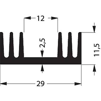 Fischer Elektronik SK 09 50 SA Disipador de calor 7,2 K/W (L x An x H) 50 x 29 x 11,5 mm A 220, SOT 32