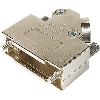 ASSMANN WSW AMET-15 RS-45 D-SUB housing Number of pins: 15 Metal 45 ° Silver 1 pc(s)