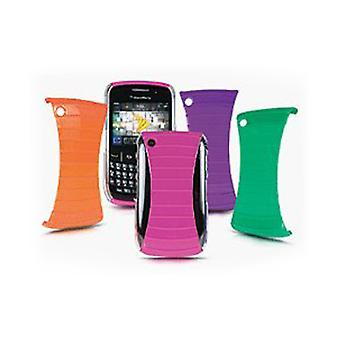 5 Pack -Sprint Rib Cage Shields CZB0855R pour Blackberry 8530 / 9330 - Rose/Orange/Purple/Green