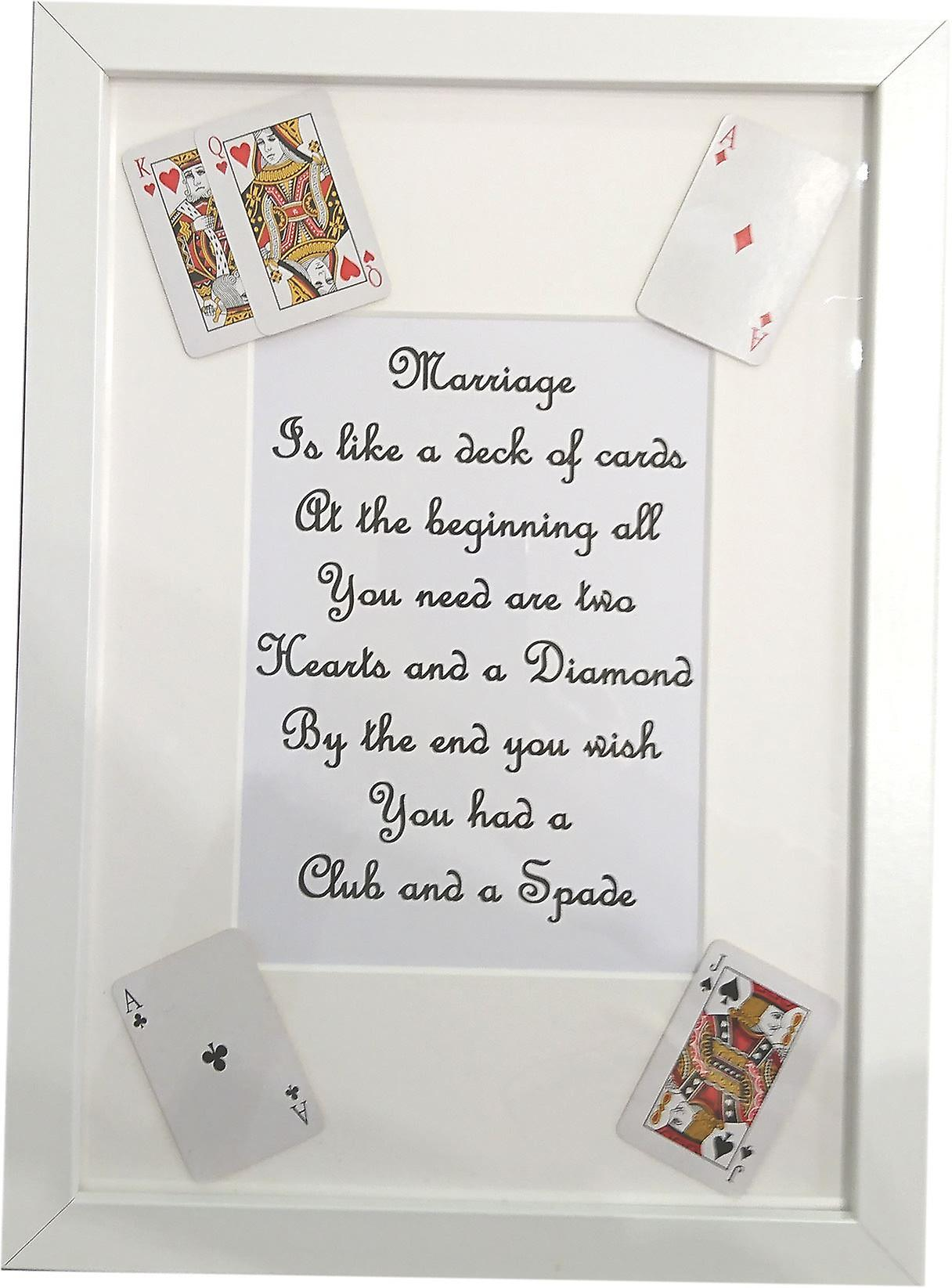 Wee Bee Handmade Mariage is like a deck of cards frame White