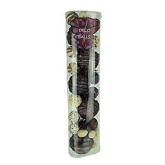Purple & Brown Natural Mixed Material Decorative Balls