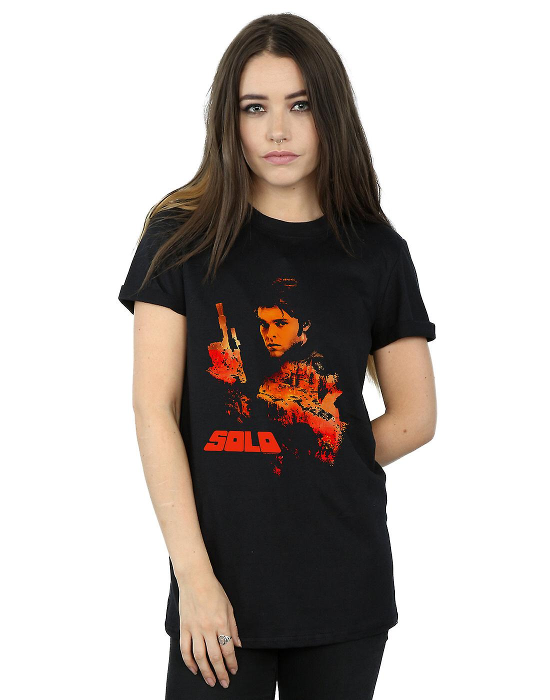 Star Wars Women's Solo Coloured Silhouette Boyfriend Fit T-Shirt