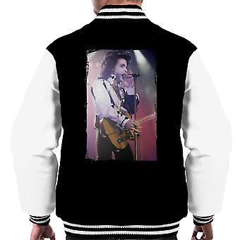 Prins naakt Tour 1991 uitvoeren met gitaar mannen Varsity Jacket