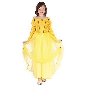Bnov prinsesse kjole kostume gul