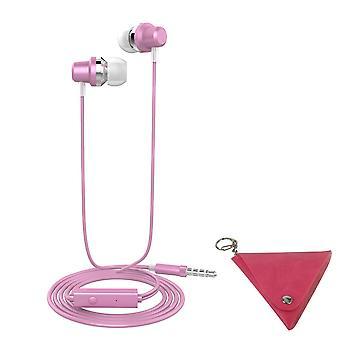 LANGSDOM J10 3.5 χιλιοστά μπάσα στερεοφωνικά ακουστικά-ροζ