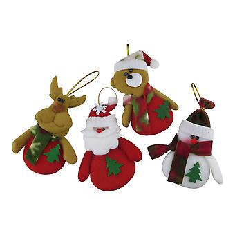Christmas decorations of fabric