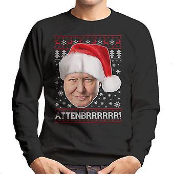 Attenbrrrrrr David Attenborough kerst brei mannen Sweatshirt
