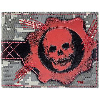 Microsoft Gears of War vervals schedel ID & kaart Bi-Fold portemonnee