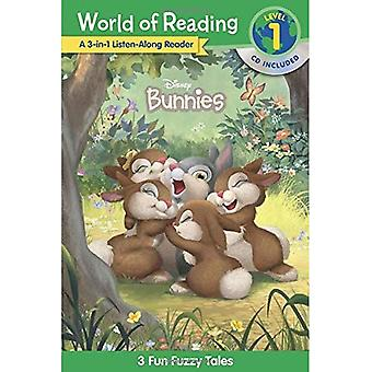 Wereld van het lezen van Disney Bunnies 3-In-1 Luister-langs Reader (niveau 1): 3 leuke Fuzzy Tales (World of lezing)