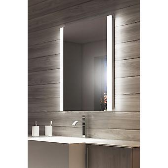 Miroir de salle de bain bord Double de RVB avec prise rasoir k1114rgb