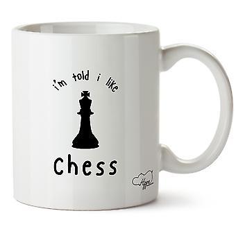 Hippowarehouse I'm Told I Like Chess Printed Mug Cup Ceramic 10oz