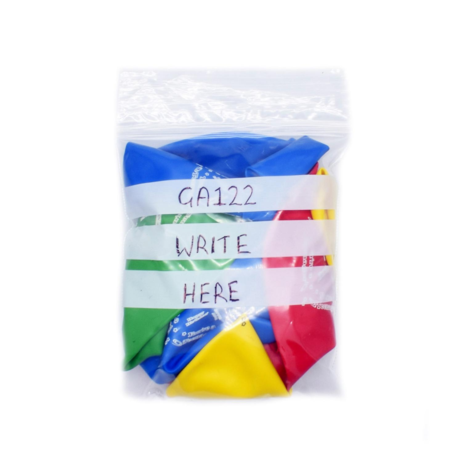 Simply Direct Grip Seal Plastic Poly Press & Seal Bags with Write on Panel (GA020 - GA133) - Assorted Sizes & Quantities