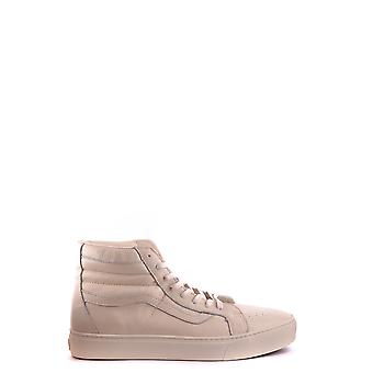 Vans Ezbc071010 Men's White Leather Hi Top Sneakers