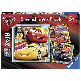 Ravensburger Disney Pixar Cars 3, 3 x 49pc Jigsaw Puzzles