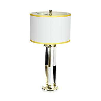 Lampe de table moderne blanc or