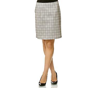 Women's skirt plaid knee length Midi Pencil Stretch Glencheck Pattern