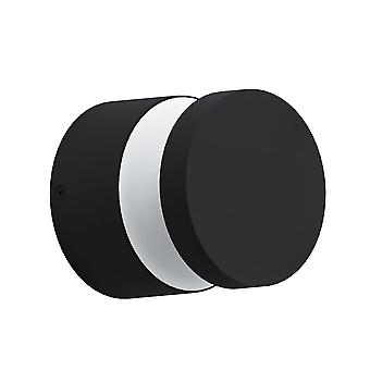 Eglo Melzo LED IP44 Outdoor Wall Or Ceiling Light In Black