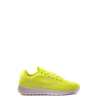 Asfvlt Ezbc205002 Women's Yellow Fabric Sneakers
