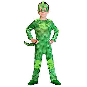 PJ MÁSCARAS Pijama Heróis Kids Costume Gekko Gecko Heroes em Pijama Greg
