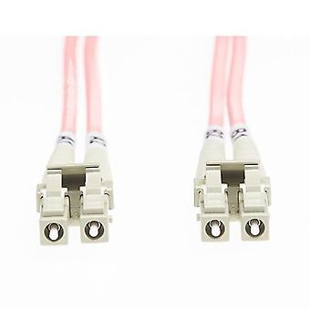 5M LC LC Om1 πολλαπλών λειτουργιών καλώδιο οπτικών ινών σολομού ροζ