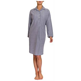 British Boxers Ash Herringbone Two Fold Flannel Nightshirt - Grey