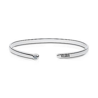 Villanova University Engraved Sterling Silver Diamond Cuff Bracelet